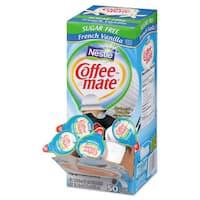 Coffee-mate Sugar-Free French Vanilla Creamer 0.375oz 50/Box 4 Boxes/Carton