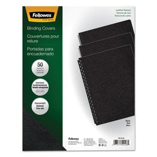 Fellowes Executive Presentation Binding System Covers 11-1/4 x 8-3/4 Black 50/Pack