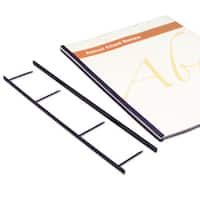 Swingline GBC VeloBind Reclosable Spines 200 Sheet Capacity Black 25/Pack