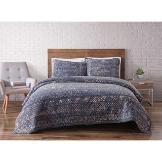 Brooklyn Loom Sand Washed Cotton Quilt Set (Option: Full)