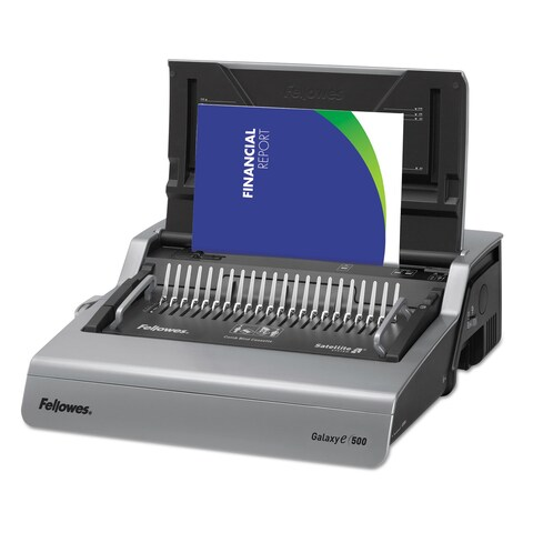 Fellowes Galaxy Electric Comb Binding System 500 Sheets 19 5/8 x 17 3/4 x 6 1/2 Grey