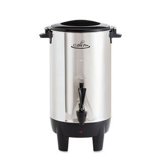 Coffee Pro 30-Cup Percolating Urn Stainless Steel https://ak1.ostkcdn.com/images/products/13868645/P20508782.jpg?impolicy=medium