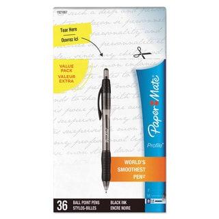 Paper Mate Profile Ballpoint Retractable Pen Black Ink Bold 36/Box