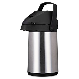 Coffee Pro Direct Brewith Serve Insulated Airpot with Carry Handle 2200mL Stainless Steel