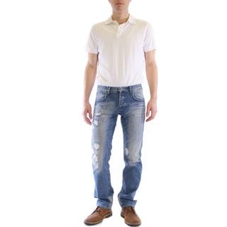 Dinamit Men's JT Distress Straight-leg Jeans