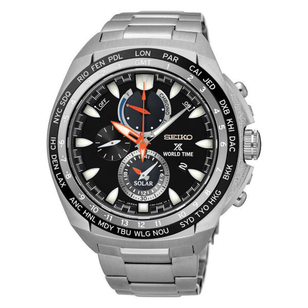 Seiko Prospex Men's Black Dial Watch. Opens flyout.