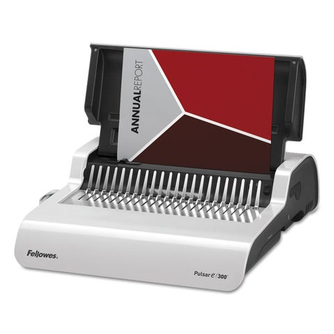 Fellowes Pulsar Electric Comb Binding System 300 Sheets 17 x 15 3/8 x 5 1/8 White