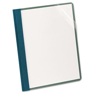 Oxford Earthwise Recycled Clear Front Report Covers Letter Size Blue 25/Box