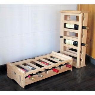 Stacking Wooden Wine Organizer (Set of 2)