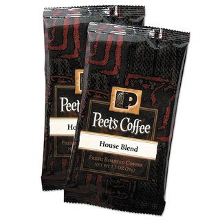 Peet's Coffee & Tea Coffee Portion Packs House Blend 2.5-ounce Frack Pack 18/Box