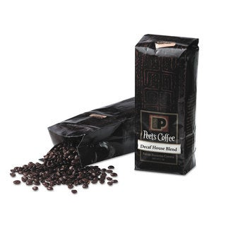 Peet's Coffee and Tea Bulk Coffee House Blend Decaf Whole Bean 1 -pound Bag