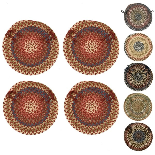 Cove Spacedye Multi Round Chair Pads (Set of 4). Opens flyout.