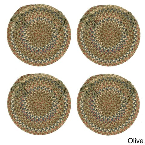Cove Spacedye Multi Round Chair Pads (Set of 4)