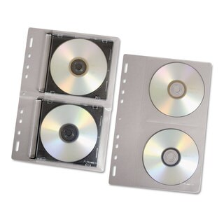 Fellowes CD/DVD Protector Sheets for Three-Ring Binder Clear 10/Pack