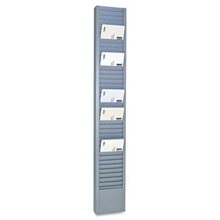 SteelMaster 40-Pocket Steel Swipe Card/Badge Rack 2-15/16-inch x 18-11/16-inch