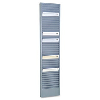 SteelMaster 40-Pocket Steel Swipe Card/Badge Rack 4-1/8-inch x 18-11/16-inch