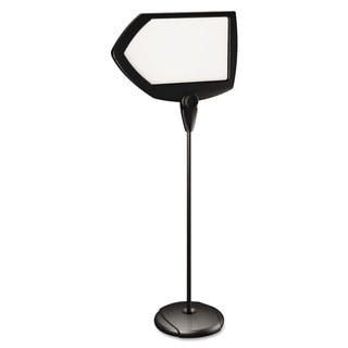 MasterVision Floor Stand Sign Holder Arrow 25x17 sign 63-inch High Black Frame