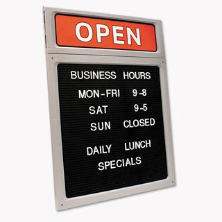 COSCO Message/Business Hours Sign 15 x 20 1/2 Black/Red
