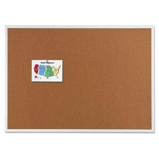 Quartet Classic Cork Bulletin Board 48 x 36 Silver Aluminum Frame