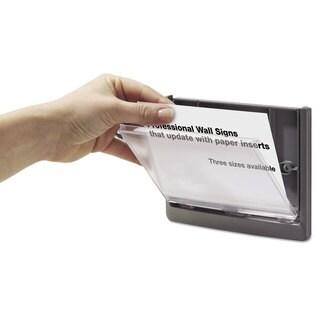 Durable Click Sign Holder For Interior Walls 6 3/4 x 5/8 x 6 7/8 Grey