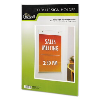 NuDell Clear Plastic Sign Holder Wall Mount 11 x 17