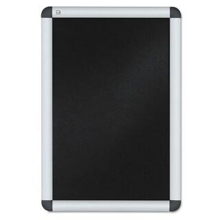 Quartet Clip-Frame Aluminum Sign Holder 11 x 17 Silvertone Frame