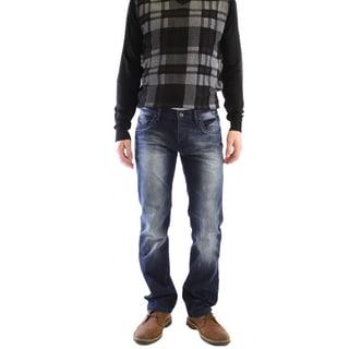 Dinamit Men's JT Dark Wash Cotton Straight Leg Jeans