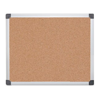 MasterVision Value Cork Bulletin Board with Aluminum Frame 24 x 36 Natural