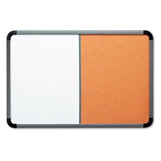 Iceberg Ingenuity Combo Dry Erase/Cork Board Resin Frame 48 x 36 Charcoal Frame