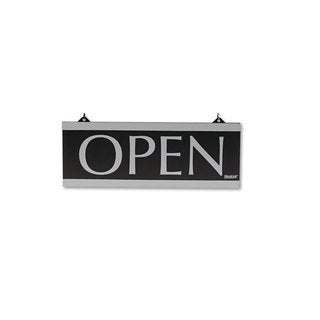 Headline Sign Century Series Reversible Open/Closed Sign with Suction Mount 13 x 5 Black