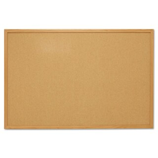 Mead Cork Bulletin Board 48 x 36 Oak Frame
