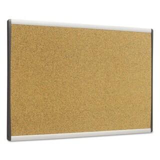 Quartet ARC Frame Cork Cubicle Board 14 x 24 Tan Aluminum Frame