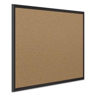 Quartet Classic Cork Bulletin Board 24x18 Black Aluminum Frame