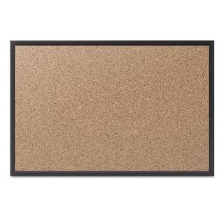Quartet Classic Cork Bulletin Board 36x24 Black Aluminum Frame