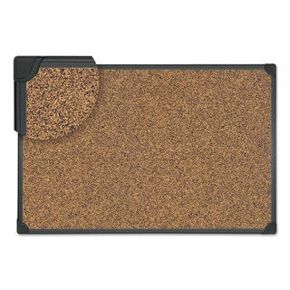 Universal Tech Cork Board 36 x 24 Cork Black Frame