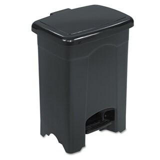 Safco Step-On Receptacle Rectangular Plastic 4gal Black