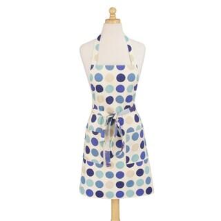 Dotted Blue Modern Cotton Apron