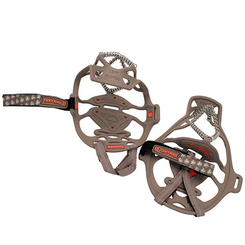 YakTrax Run Grey and Red Natural Rubber and Stainless Steel Traction Devices (Set of 2)