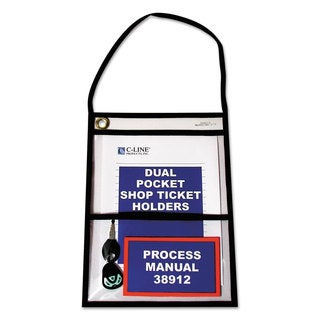 C-Line Shop Ticket Holders with Strap Stitched 150-inch 9 x 12 15/Box