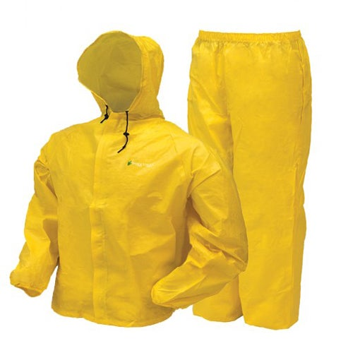 Frogg Toggs Youth Ultra-Lite Yellow Plastic Rain Suit