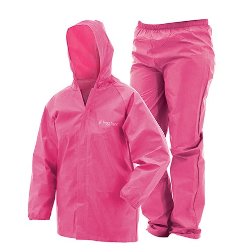 Frogg Toggs Youth Pink Plastic Ultra-Lite Rain Suit (Yout...
