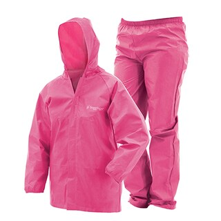 Frogg Toggs Youth Pink Plastic Ultra-Lite Rain Suit