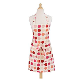 Dotted Pink Modern Cotton Apron