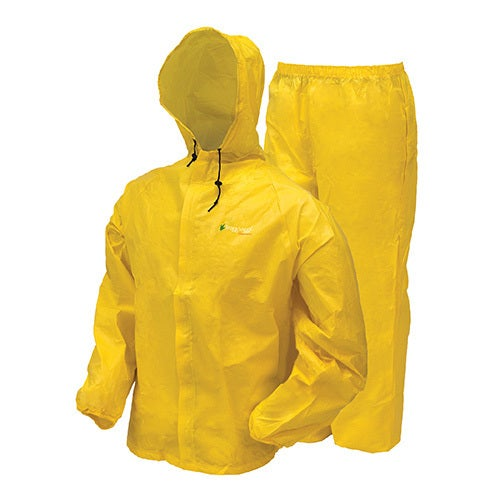 8635a7039 Frogg Toggs Ultra-Lite2 Yellow Plastic Rain Suit with Stuff Sack