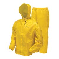 Frogg Toggs Ultra-Lite2 Yellow Plastic Rain Suit with Stuff Sack