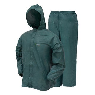 Frogg Toggs Ultra-Lite2 Green Plastic Rain Suit with Stuff Sack
