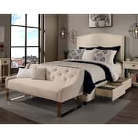 Republic Design House Newport Ivory Upholstered Queen Bedroom Collection with Sofa Bench Option