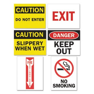 Tarifold Inc. Magneto Safety Sign Inserts Six Assorted Messages 8 3/4 x 11 1/4 12/Pack