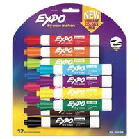 EXPO Low Odor Dry Erase Vibrant Color Markers Assorted Colors Medium 12/Set