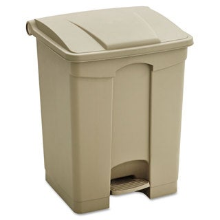 Safco Large Capacity Plastic Step-On Receptacle 17gal Tan